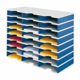 Třídící moduly, 24 přihrádek, modrá