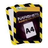 Magnetická kapsa A4, 2ks, žluto-černá