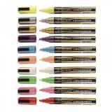 Křídový popisovač, hrot 2-6 mm, mix barev, 8 ks