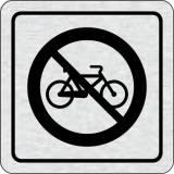 Cedulka na dveře - Zákaz jízdy na kole