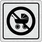 Cedulka na dveře - Zákaz vstupu s kočárkem