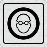 Cedulka na dveře - Použij ochranu zraku