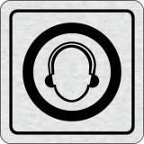 Cedulka na dveře - Použij ochranu sluchu