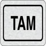 Cedulka na dveře - TAM