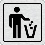 Cedulka na dveře - Koš na odpadky