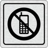 Cedulka na dveře - Zákaz telefonování