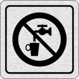 Cedulka na dveře - Zákaz pití vody