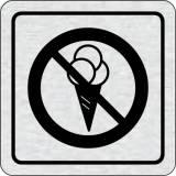 Cedulka na dveře - Zákaz vstupu se zmrzlinou II.
