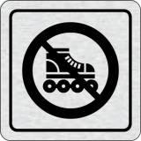 Cedulka na dveře - Zákaz jízdy na kolečkových bruslích