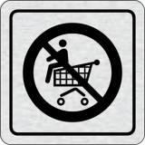 Cedulka na dveře - Zákaz jízdy na nákupním vozíku