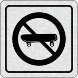 Cedulka na dveře - Zákaz jízdy na skateboardu