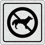 Cedulka na dveře - Zákaz vstupu se psem