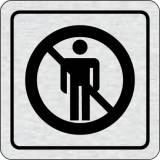 Cedulka na dveře - Zákaz vstupu