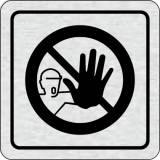 Cedulka na dveře - Pozor zákaz vstupu