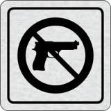 Cedulka na dveře - Zákaz vstupu se zbraní